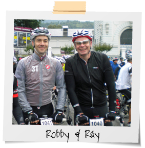 Robby and Ray, owners of Pysclewerx Bike shop in Cotham, Bristol